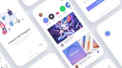 Social App For Designers- uifreebies.net