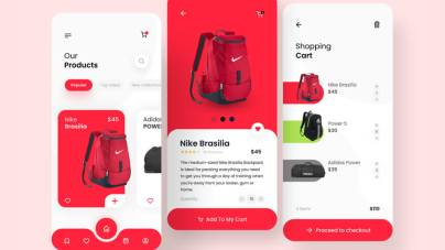 Bag Shop App Free for Figma