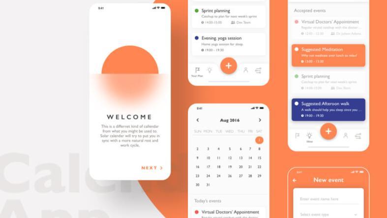 Calendar App UI Kit Free