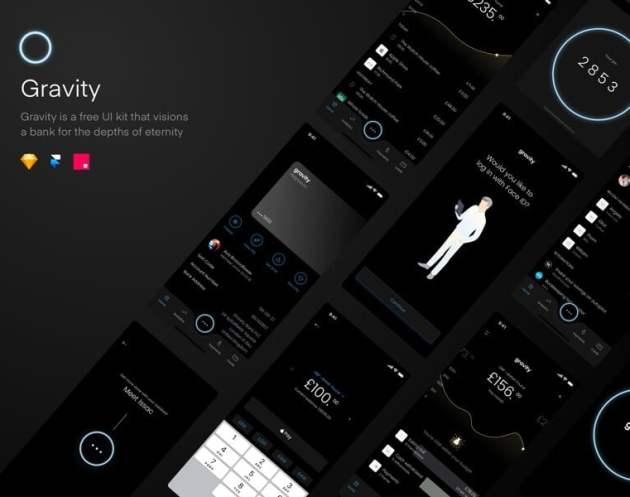 Gravity UI Kit Free for Sketchapp
