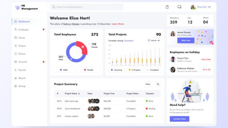 HR Management Dashboard