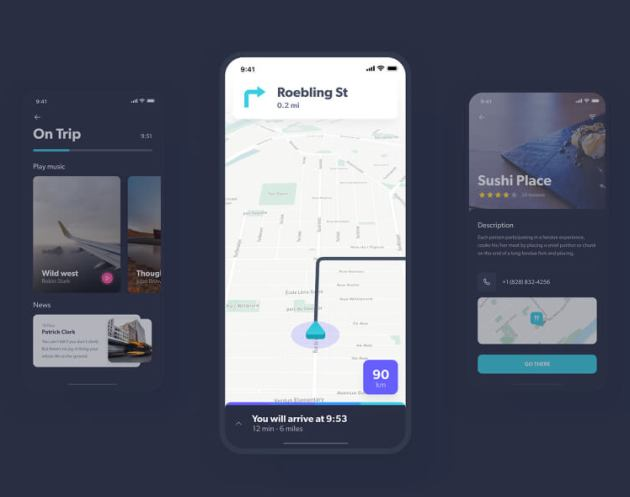 Navigo Transportation UI Kit for Adobe XD - uifreebies.net