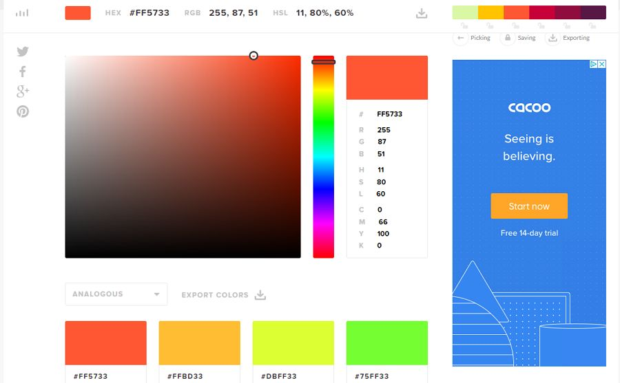 7. HTML Color Codes - UI Freebies
