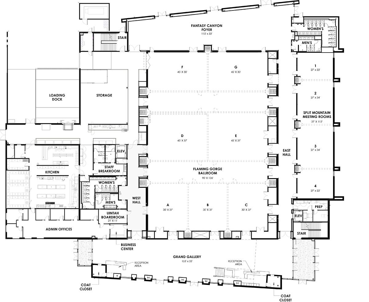 Uintah Conference Center: Venue-Building Layout