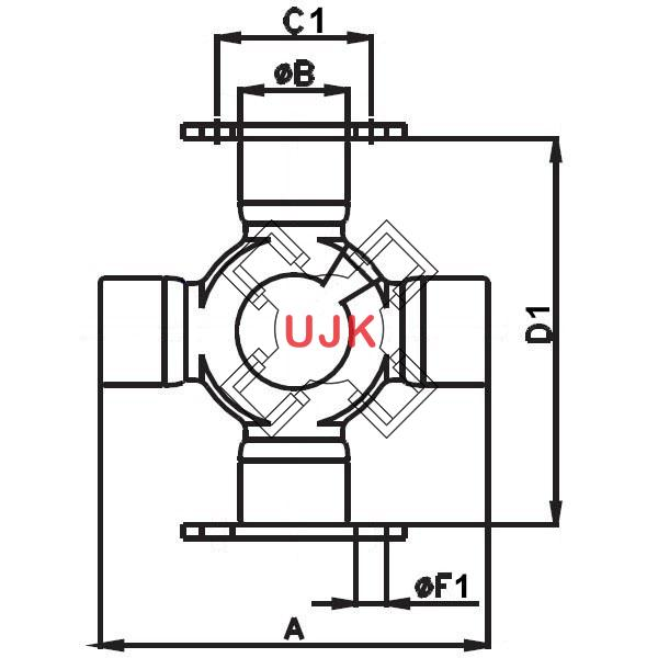 BF5X4635A professional universal joint manufacturer and