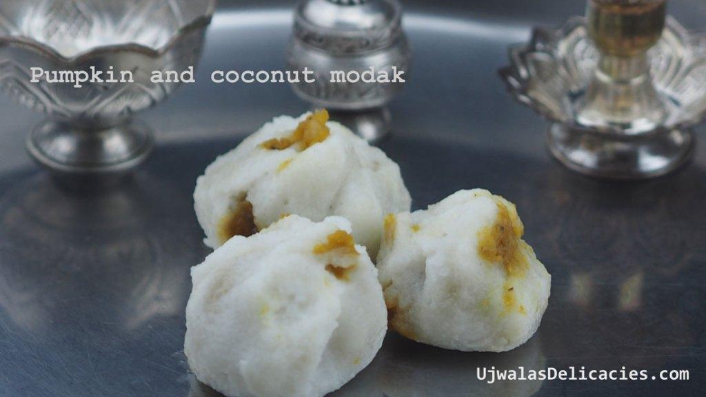 Modak W Pumpkin Coconut Filling