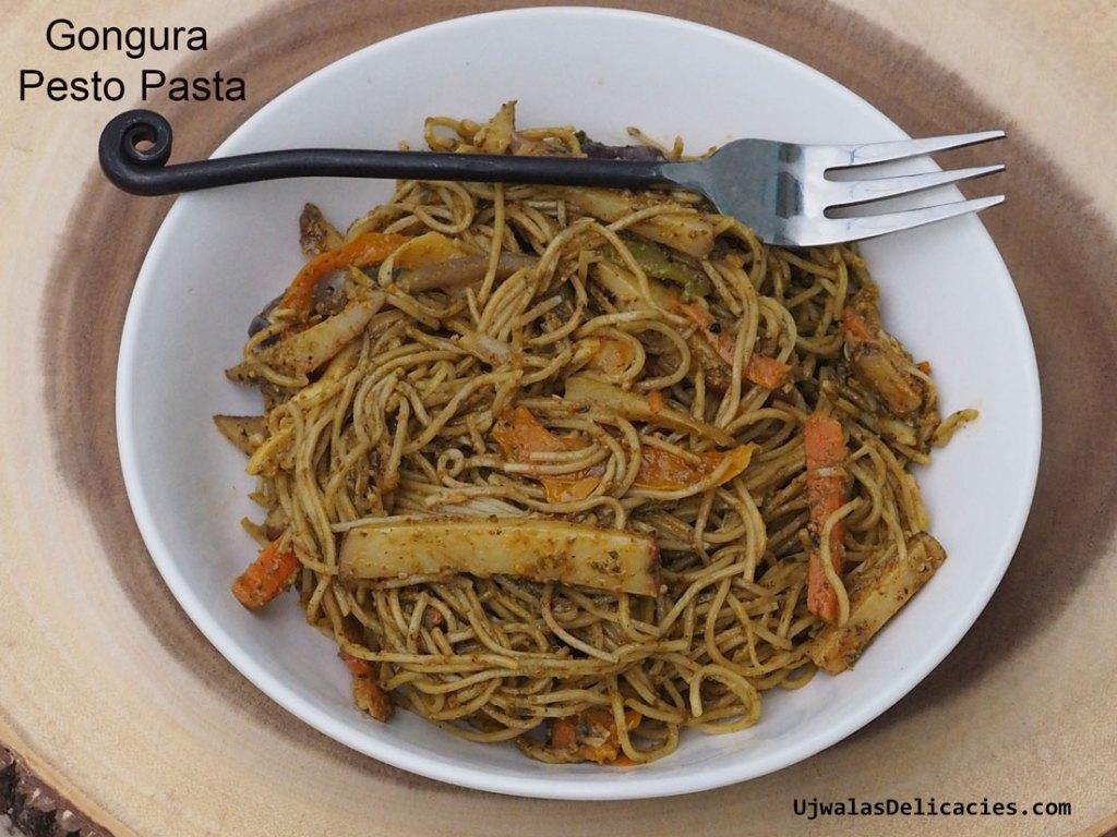 Gongura Pesto Pasta
