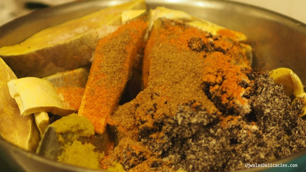 Fish in coconut Blue Poppy seed gravy