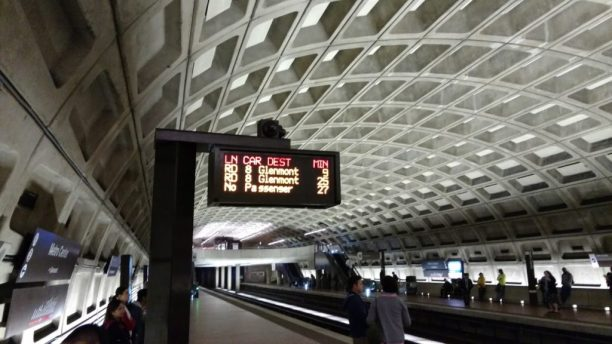 DC Metrorail station platform