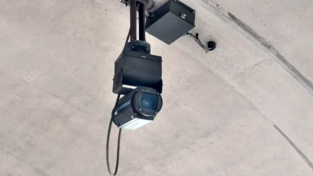 Security camera at a DC metrorail station.