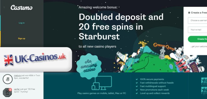 Casumo UK Casino