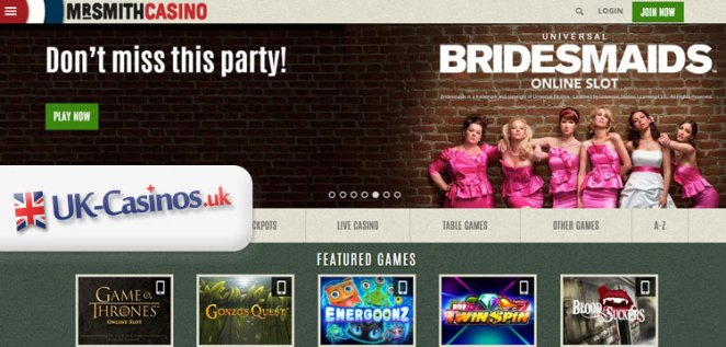 Mr Smith Casino: UK-Casinos.uk