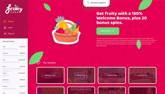 Fruity Casa Homepage
