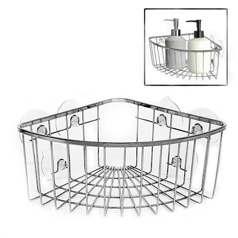 1T Caddy Shower Corner Chrome Bathroom Basket Shelf