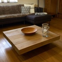 Square Floating Oak Coffee Table Tables Online