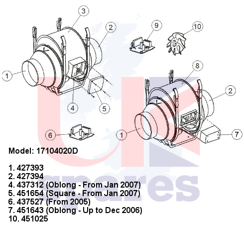 Vent Axia 17104020d Schematic Breakdown