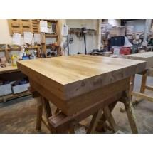 Square Oak Sleeper Coffee Table Tables