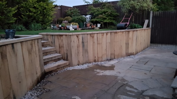landscaping with untreated