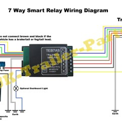 Universal Relay Wiring Diagram 1999 Ford Explorer Radio 7 Way Bypass 12v Tow Bar Electrics Teb7as