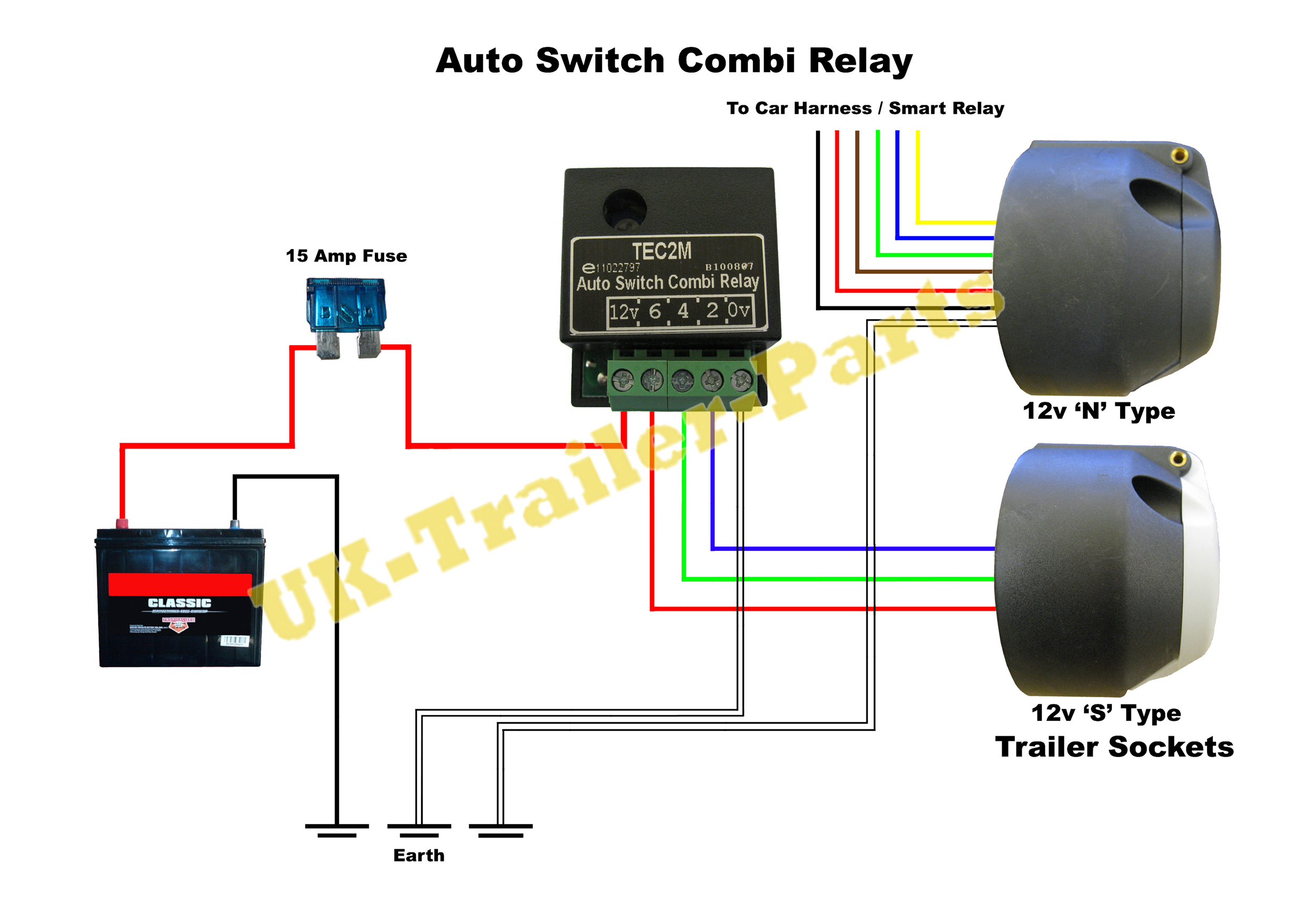 trailer plug wiring diagram uk double light switch tec2m auto combi relay