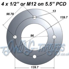 Trailer Plug Wiring Diagram Uk Subaru Working Out Pitch Circle Diameters (pcd) | Uk-trailer-parts