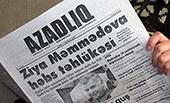 Azadliq, Azerbaijani independent Newspaper