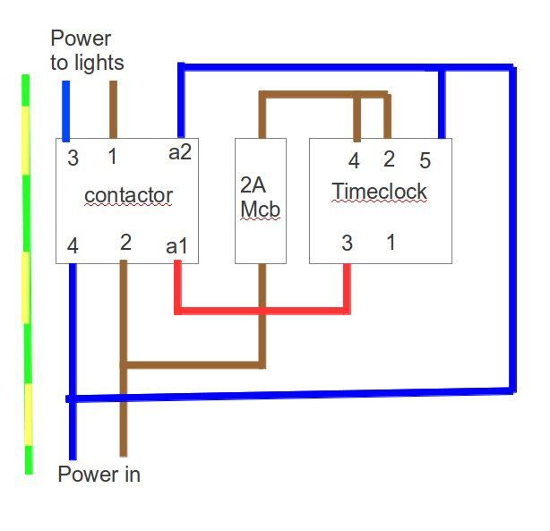 lighting contactor photocell wiring diagram internal of ceiling fan a with an mcb and rccd - d.i.y. kit uk420