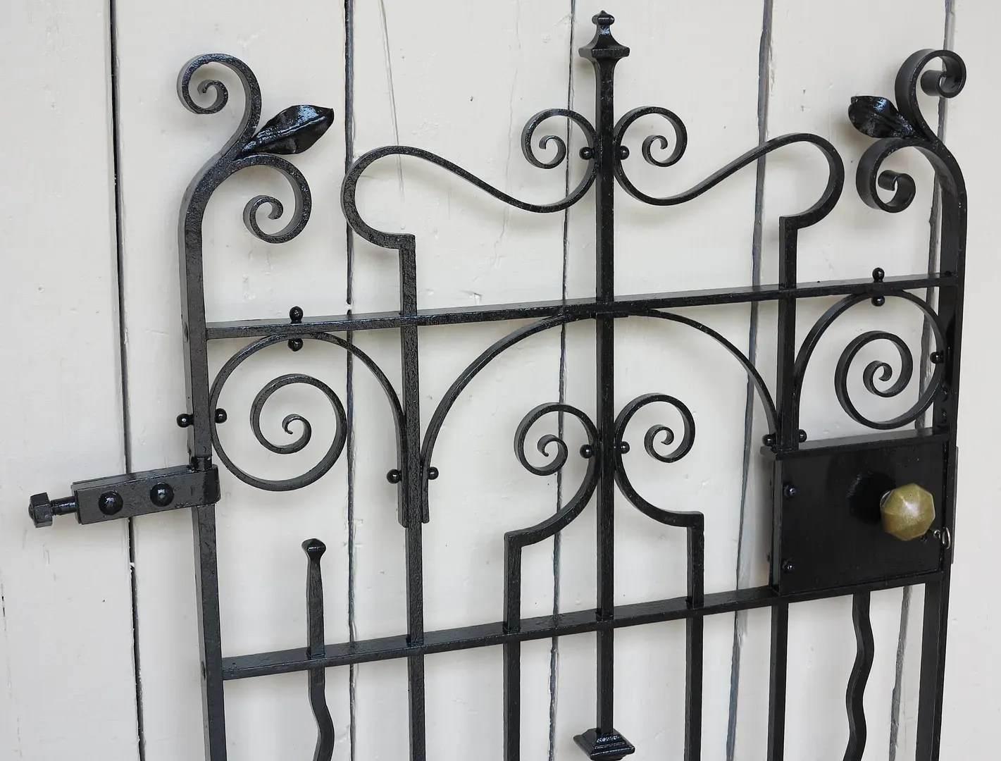 antique metal chairs for sale chair covers niagara victorian wrought iron pedestrian gate with working lock