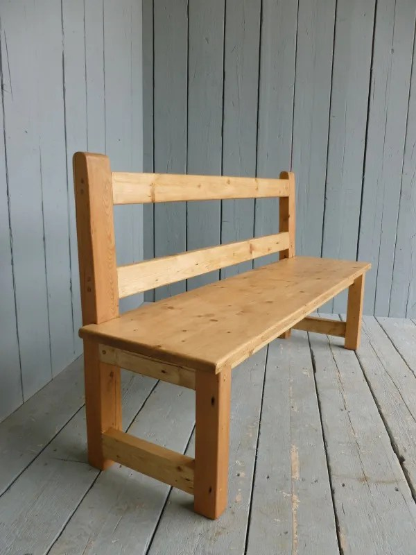 pine kitchen bench nutone exhaust fans wall mount antique reclaimed bespoke handmade