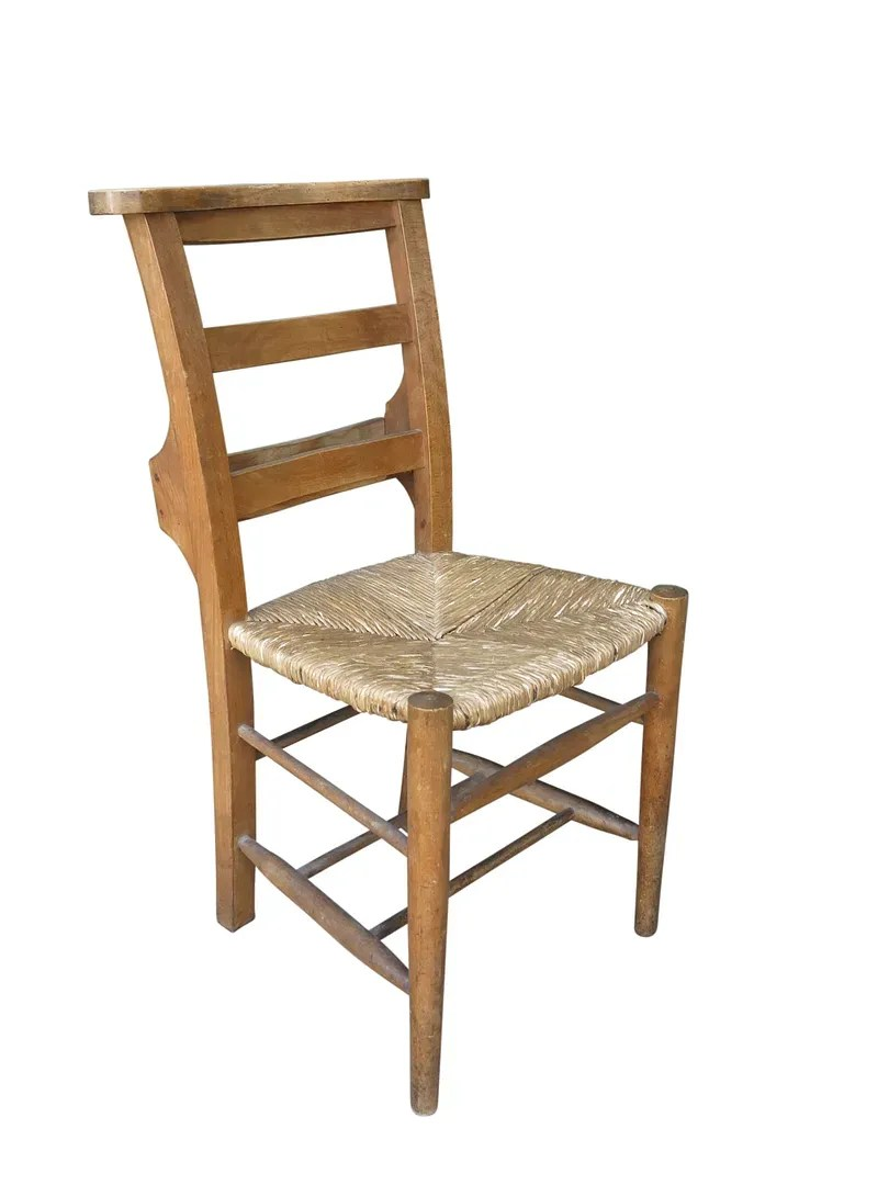 Antique Wooden Church Chairs  Require Repairs