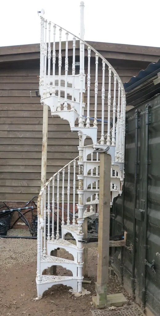 Cast Iron Spiral Staircase  Landing by Safety Stairways