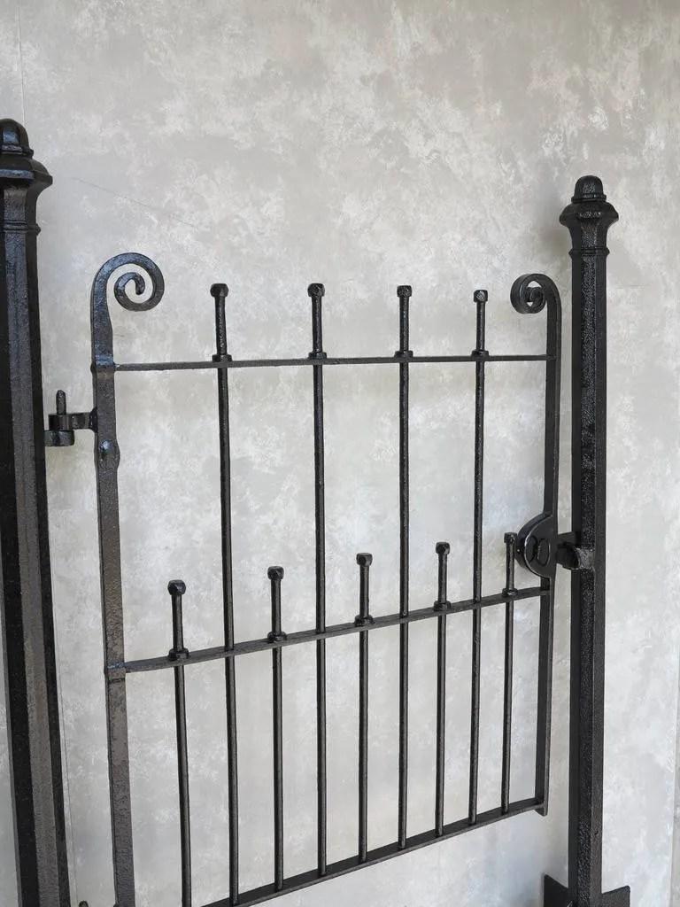 Pedestrian Antique Wrought Iron Gate Amp Cast Iron Posts