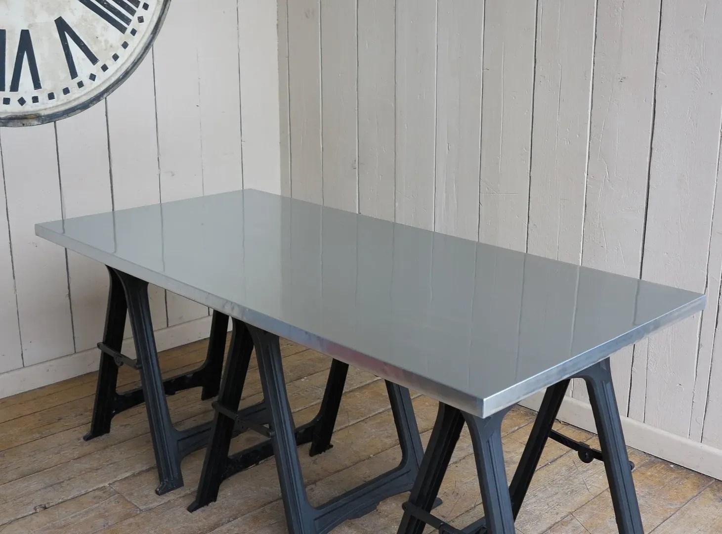 zinc kitchen table under mount sink handmade solid natural or dining top