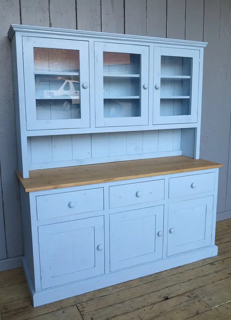 kitchen dresser unique accessories reclaimed pine with drawers and cupboards made to order old painted dressers