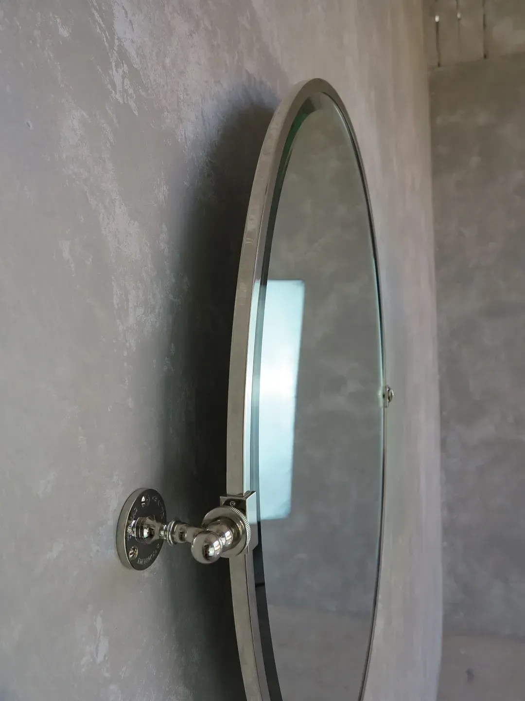 Thomas Crapper Oval Tilt Wall Mounted Bathroom Mirror