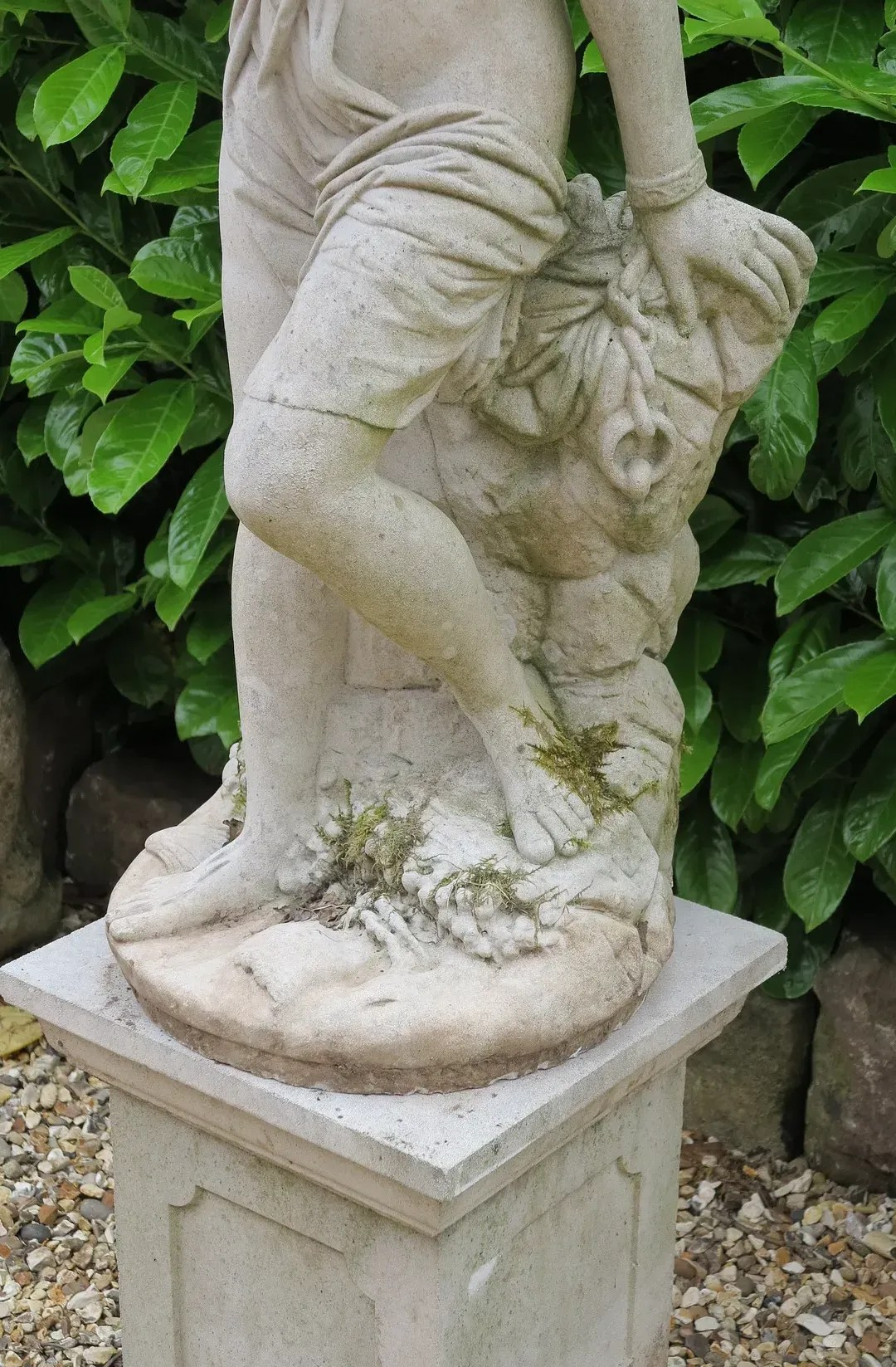 Cast Stone Garden Andromeda Statue On Plinth