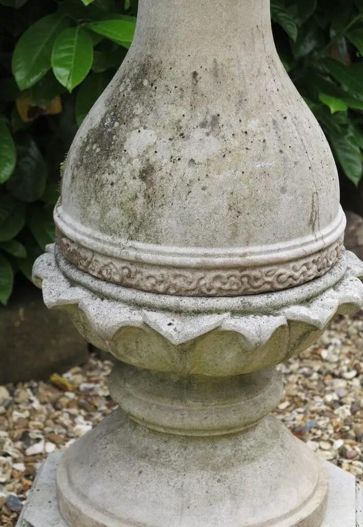 Garden Baluster Portland Stone Sundial With Brass Dial