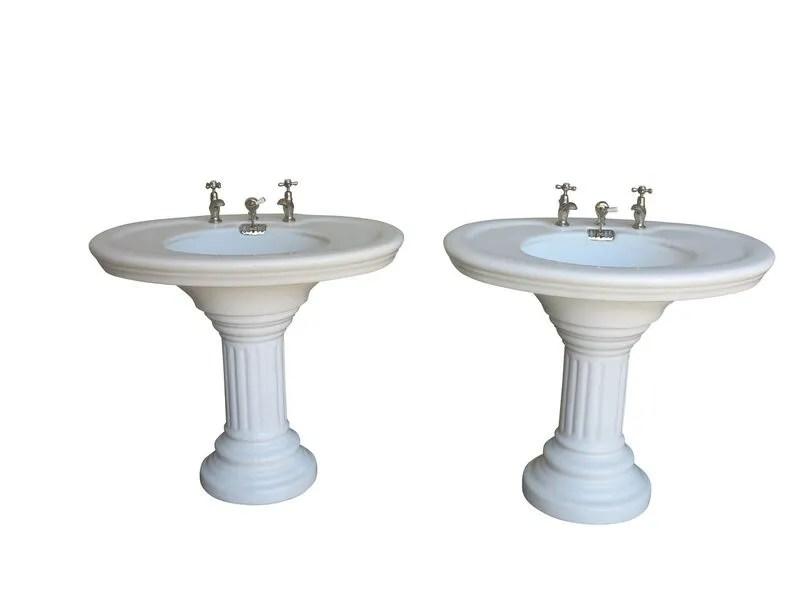 porcelain bathroom sink on pedestal circa 1890