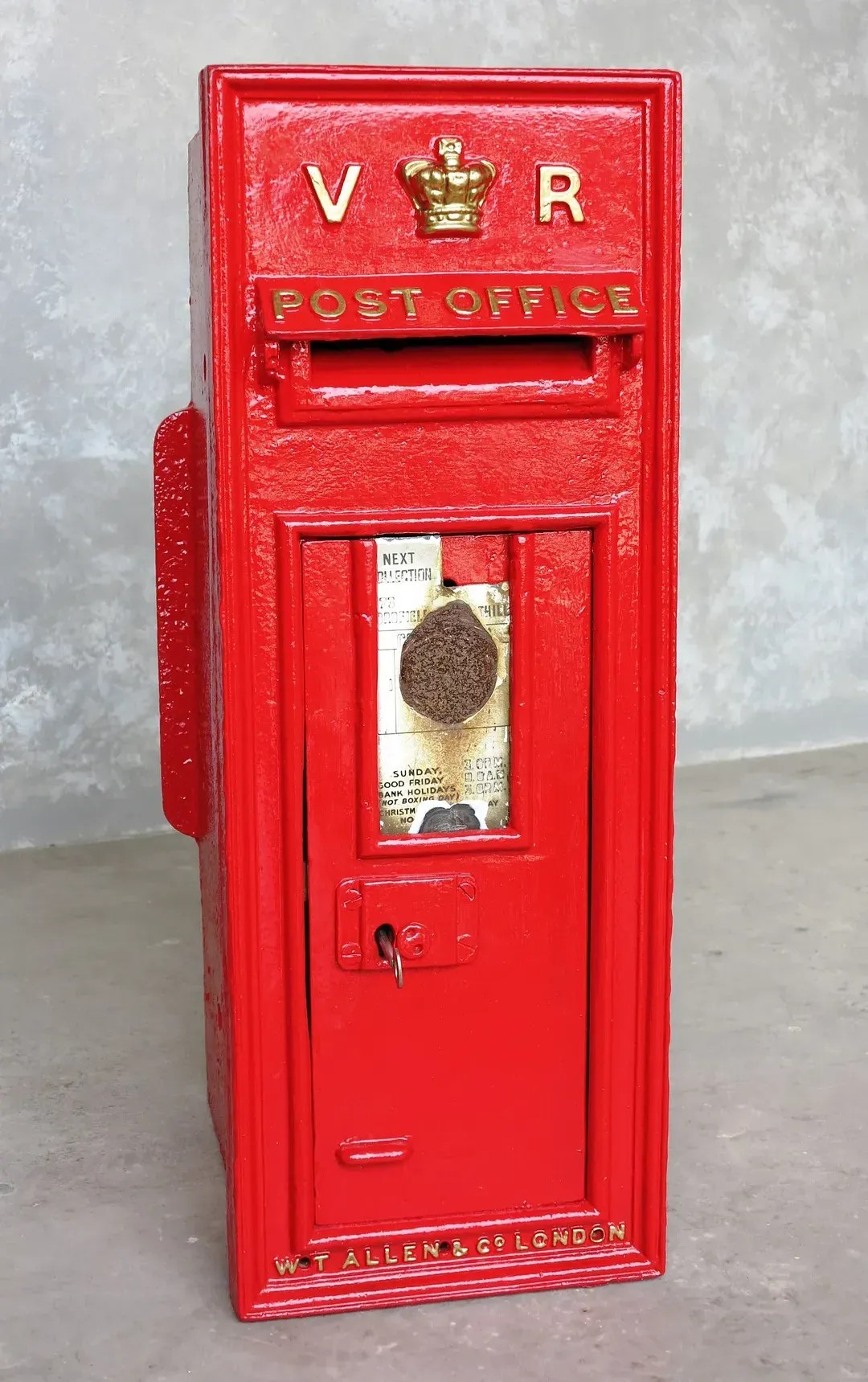 Old Royal Mail Cast Iron Victoria Wall Mounted Post Box