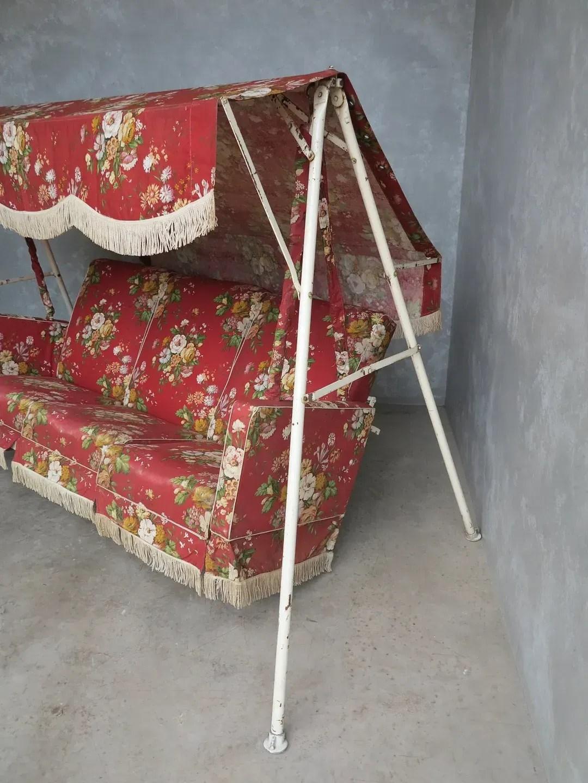 Original Vintage Garden 3 Seater Swing Seat Or Bench