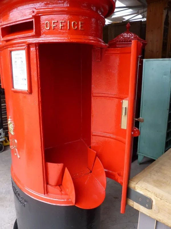 cast iron outdoor chairs lounge chair clearance royal mail original antique double pillar box