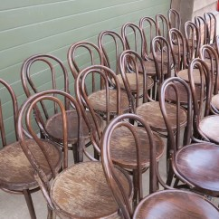 Vintage Bentwood Chairs Cushions For Teak Steamer Wooden Reclaimed Bistro