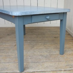Zinc Kitchen Table Bistro Handmade With Standard Drawers Dining Tables Are Made To Order