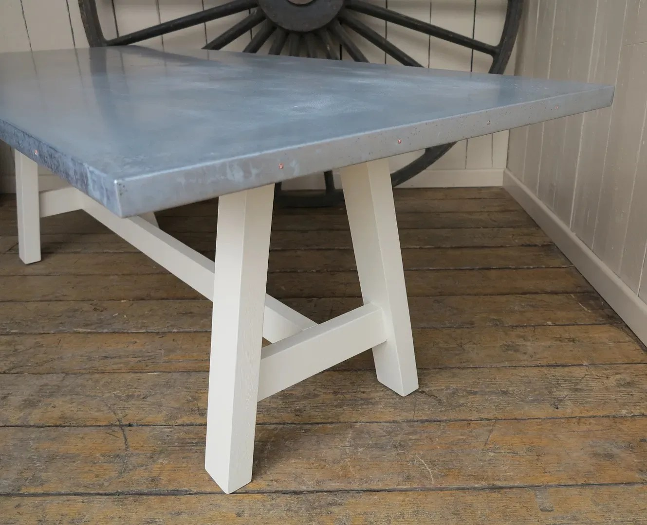 zinc kitchen table ikea doors bespoke distressed top or dining tables are made to order at ukaa