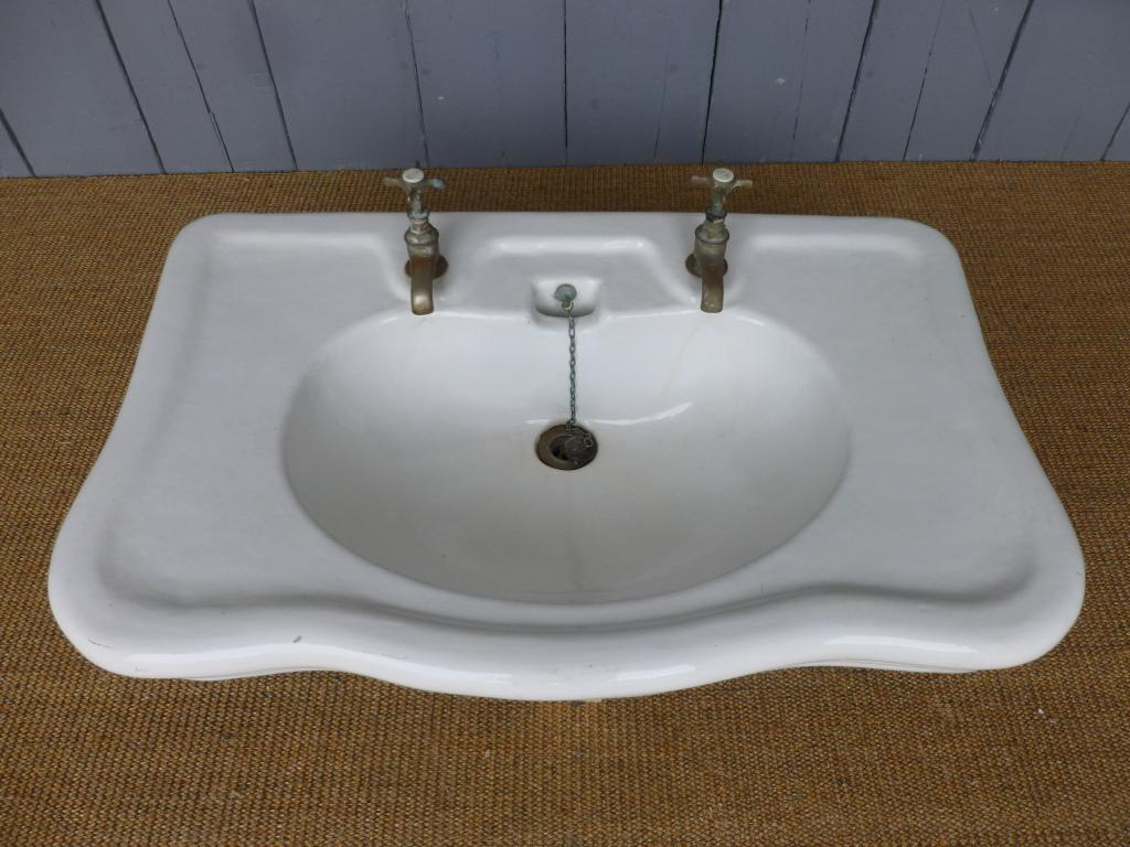 Antique Bathroom Sink With Taps 6642