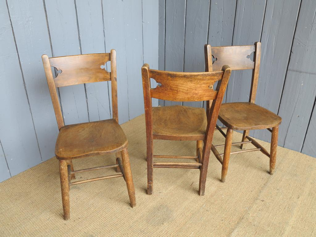 gothic chairs uk oversized living room antique elm church seats dining chapel