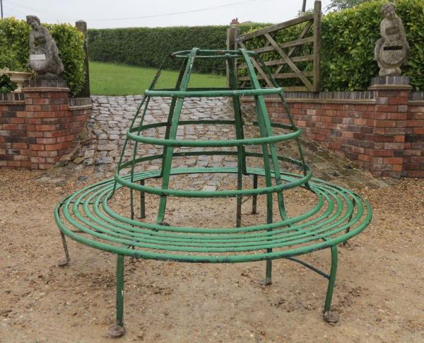 Garden Wrought Iron Tree Bench