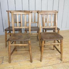 Church Chairs Direct Chair With Umbrella Attached Set Of 5 Antique 7177a