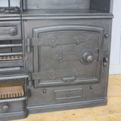 Cast Iron Kitchen Stove Cabinet Granite Top Antique Reclaimed Victorian Range 39the