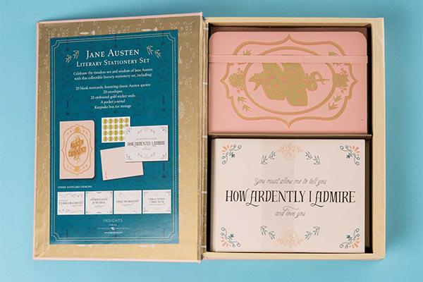 coffret Papeterie Jane Austen - Idees Cadeaux